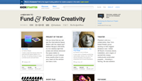 Kickstarter Website
